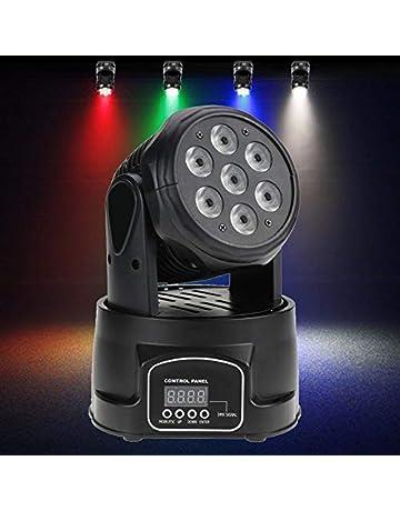 27d025b93c1 Cabeza Móvil Discoteca Wash 7 Led 8W. 4 en 1 RGBW, DMX Master/