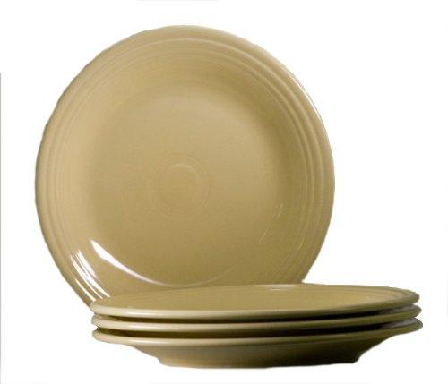 (Fiesta 10-1/2-Inch Dinner Plate, Ivory, Set of)