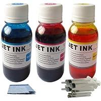 ND Brand Dinsink 3x4oz Refill Kit for CL-211C, CL-211M, CL-211Y Inkjet Cartridge