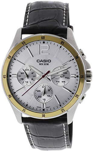Casio Enticer Chronograph White Dial Men's Watch - MTP-1374L-7AVDF (A835) ()