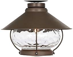 Lantern-Style Oil-Rubbed Bronze Outdoor Fan Light Kit