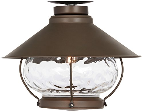 Lantern-Style Oil-Rubbed Bronze Outdoor Fan Light Kit (Outdoor Light Kit Fan)