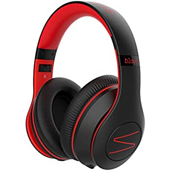 Symphonized Blast Wireless Bluetooth Headphones with Mic, Over Ear Headphones for iPhone, Samsung and More, 22 Playtime Hours for Travel/Work, Deep Bass Headphones with Noise Isolation (Red)