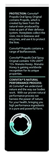 Comvita Propolis Throat Spray, UMF 10+ Manuka Honey, Natural Immune Support, 0.7 fl oz (20mL)