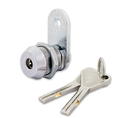 "FJM Security 8418B-KD European High Security Cam Lock with 5/8"" Cylinder and Chrome Finish, Keyed Different (Kd Tools Locks)"