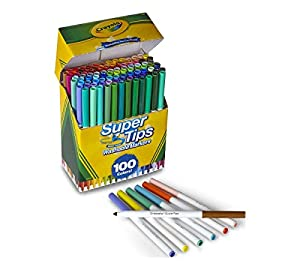 Crayola Super Tips Washable Markers (100 Count)