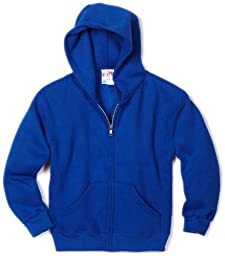 MJ Soffe Boys 8-20 Zip Hooded Sweatshirt, Royal, Medium