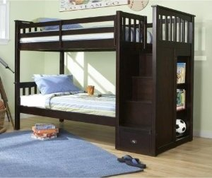 Amazon Com Mountain Staircase Bunk Bed In Espresso Kitchen Dining