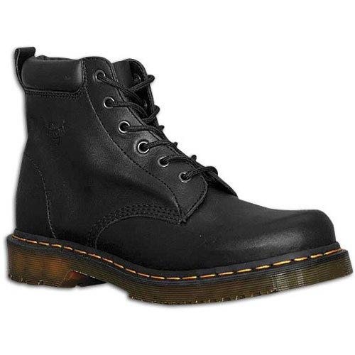 Eye Padded Collar 6 Boot (Dr. Martens Men's 6-Eye Padded Collar Boot ( sz. 13.0, Black ))