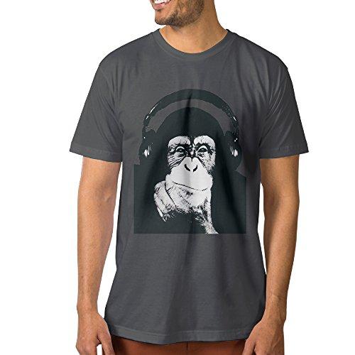 Texhood Man's Gorilla Tee SizeXL DeepHeather O-Neck