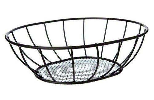 American Metalcraft (SSB96) 6'' x 9'' Straight Sided Oval Mesh Bottom Basket by American Metalcraft