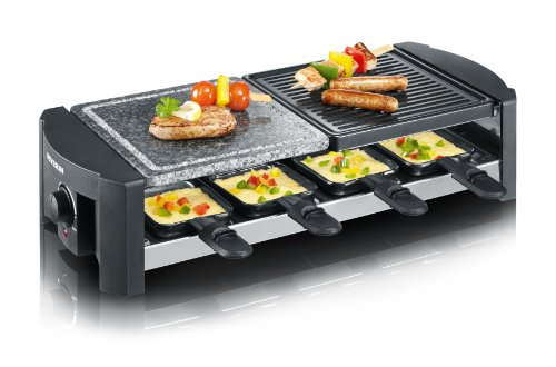 Severin RG 2683 Raclette-Grill mit Naturgrillstein