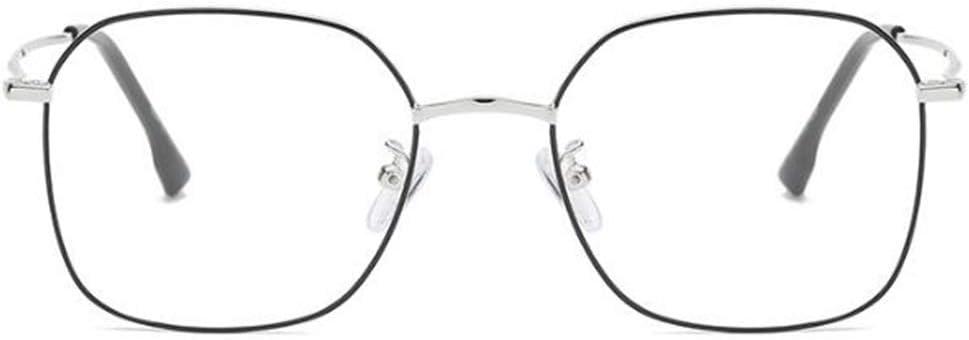 Gro/ß Rahmen Quadratische Rahmen Nicht Verschreibungspflichtige Brillen Wtbew-u M/änner Retro-Metall-Brillenfassungen Color : A