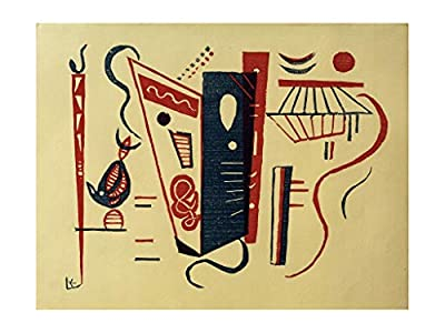 Music Poster Wassily Kandinsky - Coloured Woodcut of Two Sticks and Blossoms Print 60x80cm