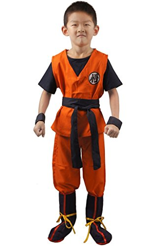 [Unisex Child Dragon Ball Z Son Goku Cosplay Costume Kids Halloween Kung Fu Suit] (Unisex Halloween Costumes)