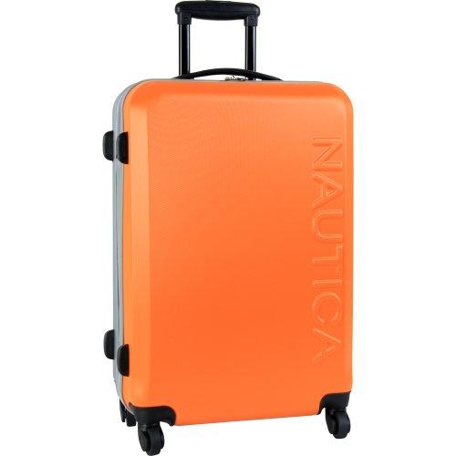 Nautica Luggage Ahoy 25 Inch Hardside Spinner, Orange/Silver, One Size
