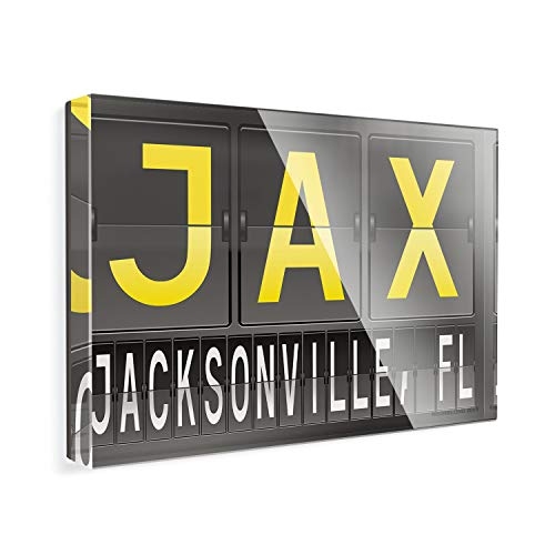 - Acrylic Fridge Magnet JAX Airport Code for Jacksonville, FL NEONBLOND