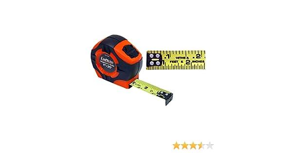 "Lufkin Hi Viz PHV1425D 1/"" x 25 Foot Dual Scale D//I Steel Tape Measure"