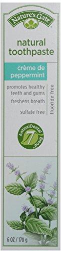 Porte Dentifrice Naturel de la nature, de crème de menthe poivrée, Tubes 6 onces (pack de 6)