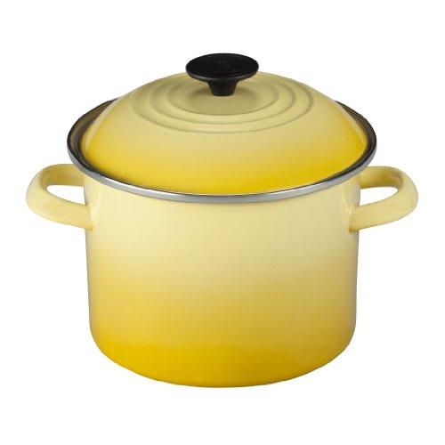 Yellow Enamel Finish (Le Creuset Enamel-on-Steel 6-Quart Covered Stockpot, Soleil)