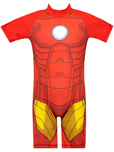 Marvel Avengers Boys' Iron Man Swimsuit Size 3T Red