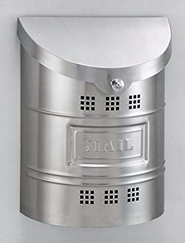 Stainless Steel Wall Mailbox Size: Large, Label: Stainless Steel, Finish: Brushed Stainless Steel ()