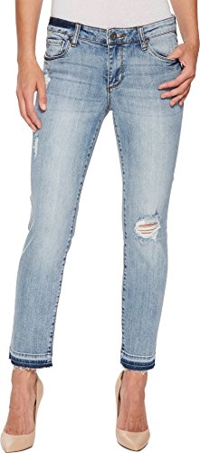 KUT from the Kloth Women's Reese Ankle Straight Leg Jean Announce/Medium Base Wash 2 27