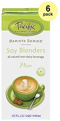 Pacific Natural Foods Barista Series Soy Blenders, Plain, 32-ounce Containers (6-pack) by Pacific Natural Foods