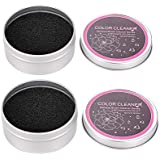 StyleZ 2 Pack Cleaner Sponge, Dry Makeup Brushes Cleaner Eye Shadow or Blush Color Removal Quickly Switch to Next Color