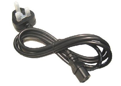 Black Coloured World of Data 5m C13 Kettle Lead to Mains IEC amp Cable UK 3 pin 13A Moulded N14584 - Approve by A.S.T.A C13