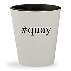 #quay - Hashtag White Outer & Black Inner Ceramic 1.5oz Shot Glass
