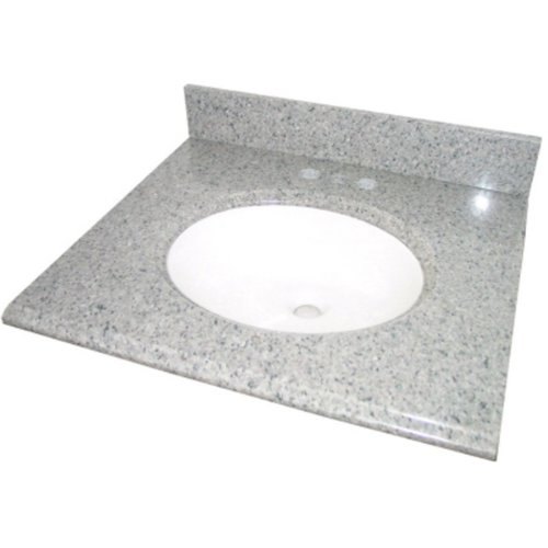 Pegasus PE25603 25 Inch Napoli Granite Vanity Top With White Bowl And  8 Inch Spread