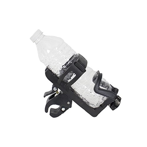 Motorcycle Handlebar Black Adjustable Bottle And Drink Holder