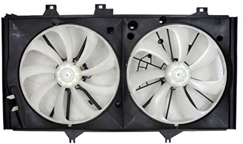 (Dual Radiator and Condenser Fan Assembly - Cooling Direct For/Fit TO3115169 12-17 Toyota Camry 2.5L)