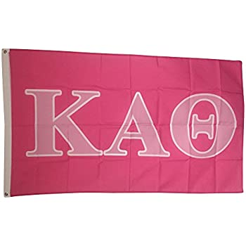 kappa alpha theta dark pinklight pink letter sorority flag greek letter use as a banner large 3 x 5 feet officially licensed flags and decor by coastal