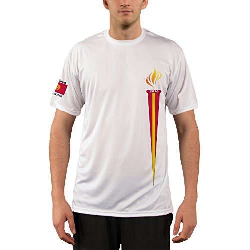 Vapor Apparel Rio Team Kyrgyzstan Mens Upf Performance T Shirt Xxx Large White