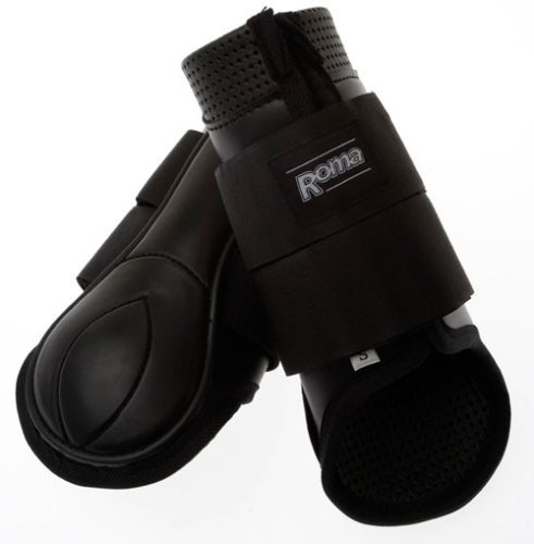 Easy Fit Splint Boots - Roma Form Fit Hind Boots Full Black