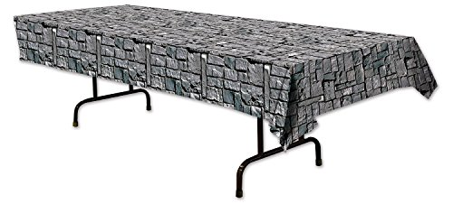 Beistle 54535 Stone Wall Tablecover, 54