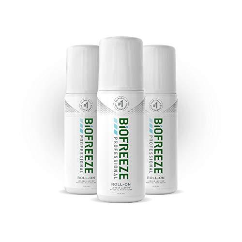 Biofreeze Professional Roll-On Pain Relief Gel, 3 oz. Bottle, Green, Pack of 3 (Biofreeze Gel)
