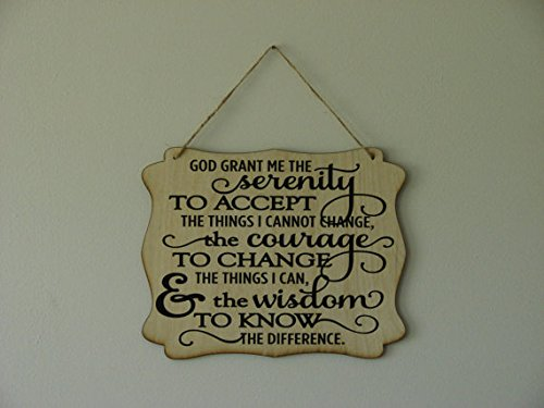 Personalized Wood Sign Serenity Prayer. hanging sign, quote Plaque, 8