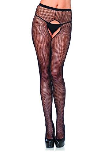 Leg Avenue Womens Size Plus Crotchless Fishnet Pantyhose