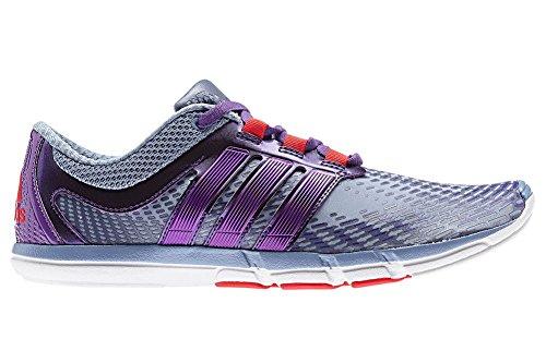 Adidas Women's Adipure Gazelle 2, Tech GreyTribe Purple, 12