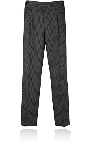 Alexander Dobell - Pantalon de costume -  Homme -  Gris - Gris - Large