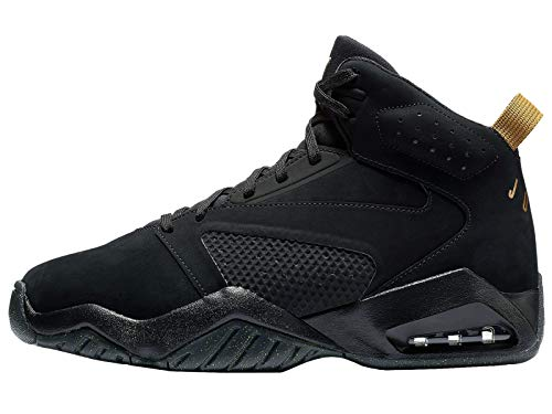 Jordan Lift Off - Men's Black/Metallic Gold Leather Basketball Shoes 10 D(M) US