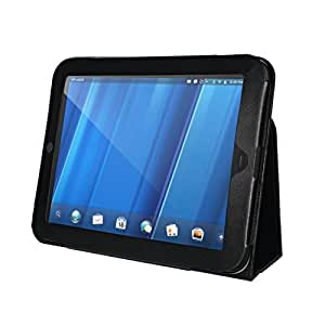 "Premium Black Leather Cover Case for HP Touchpad 9.7"" Tablet"