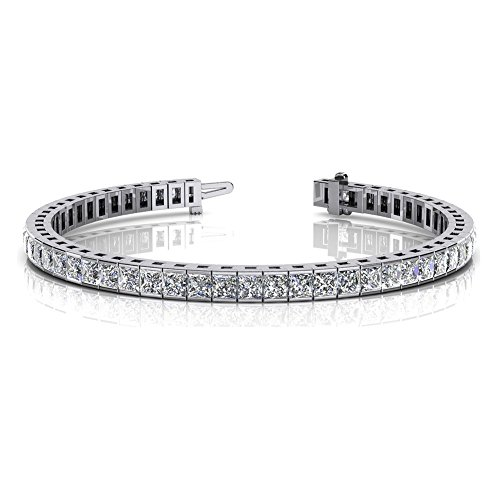 Channel Set Diamond Bracelet (5.00 ct. Princess Cut Diamond Tennis Channel Set Bracelet)