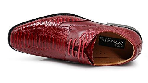 Lace Prints Edmond Up Alligator Shoes with Men's Tuxedo Dress Oxfords Fashion Burgundy gqwOrxqt