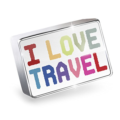Floating Charm I Love Travel,Colorful Fits Glass Lockets, Neonblond by NEONBLOND