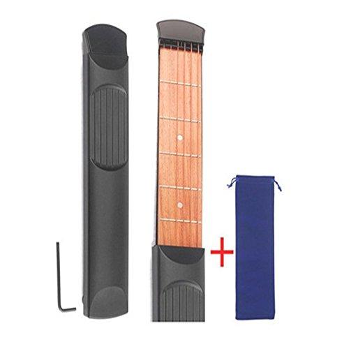 Portable Wooden Pocket Guitar Practice Tool Gadget Guitar Chord Trainer 6 Fret