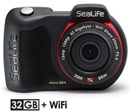 SeaLife Micro HD+ 32GB Wi-Fi Underwater Digital Camera Water